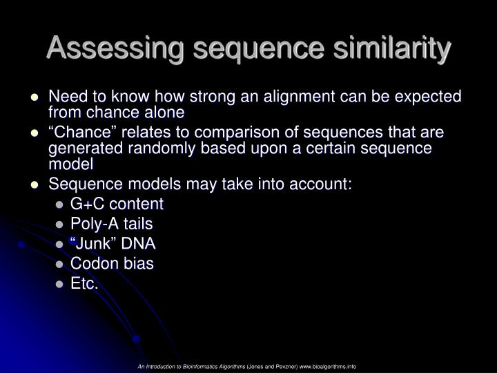 Assessing sequence similarity