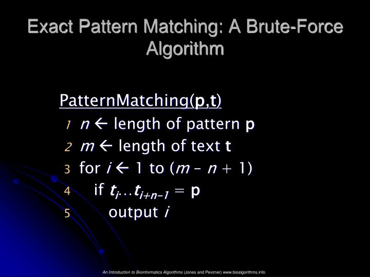 Exact Pattern Matching: A Brute-Force Algorithm