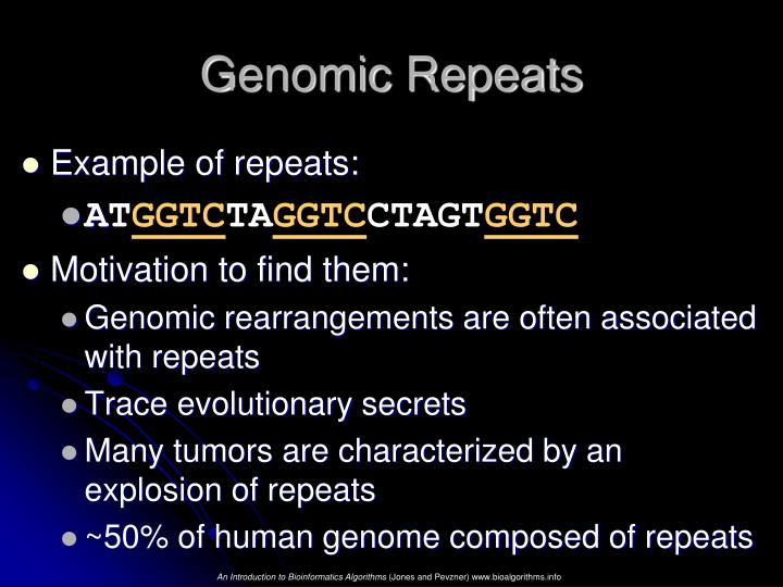 Genomic repeats