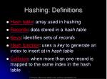 hashing definitions