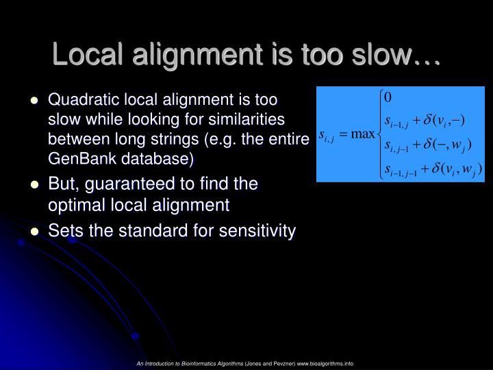 Local alignment is