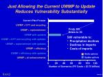 just allowing the current uwmp to update reduces vulnerability substantially