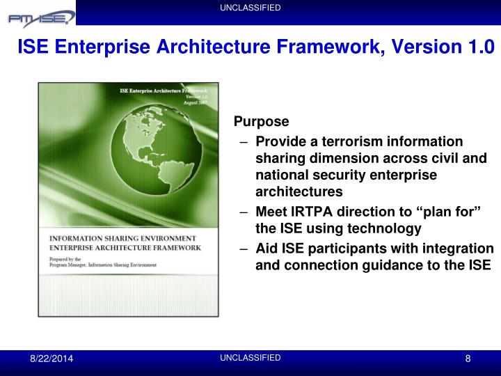 ISE Enterprise Architecture Framework, Version 1.0