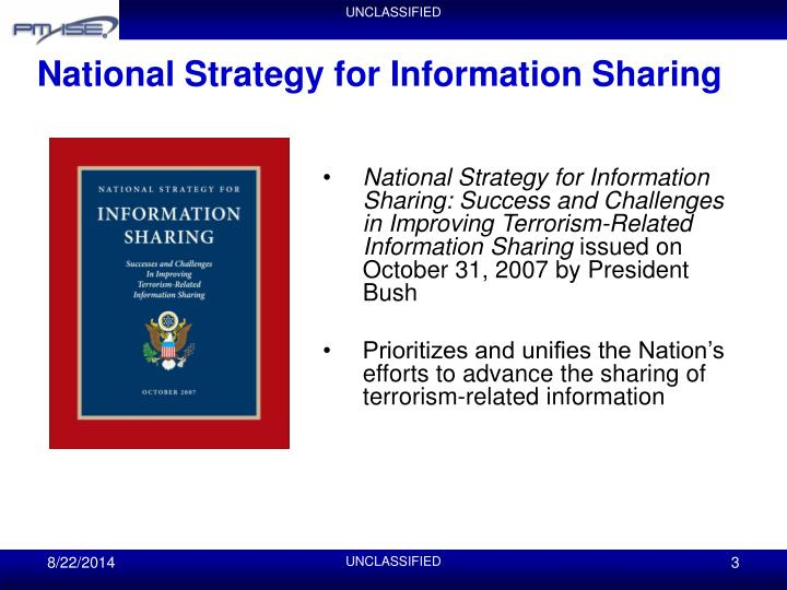 National strategy for information sharing