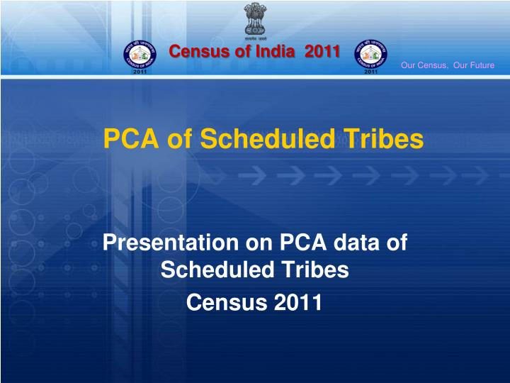 Pca of scheduled tribes