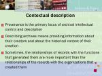 contextual description