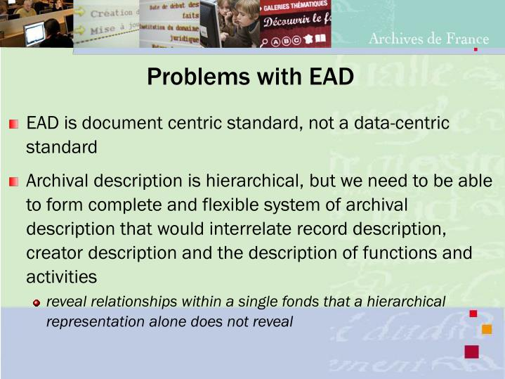 Problems with EAD
