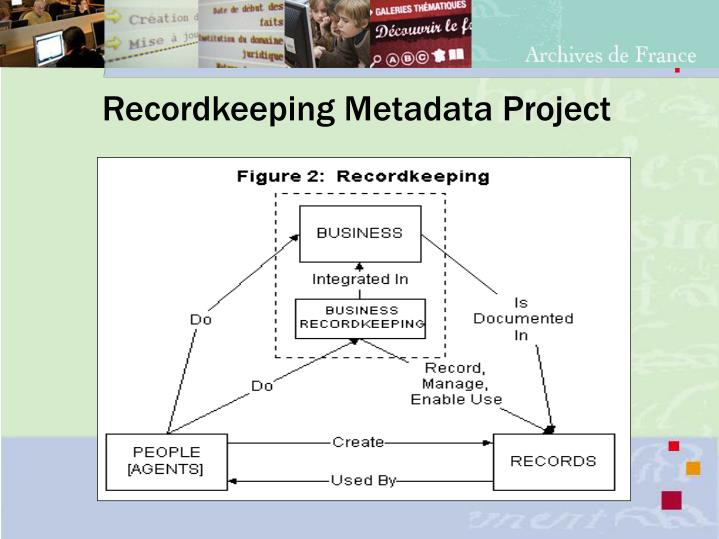 Recordkeeping Metadata Project
