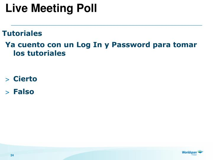 Live Meeting Poll