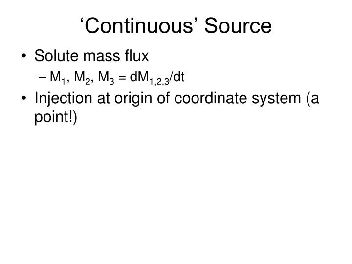 'Continuous' Source
