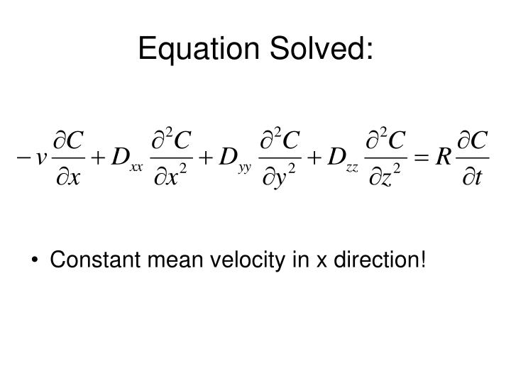 Equation Solved:
