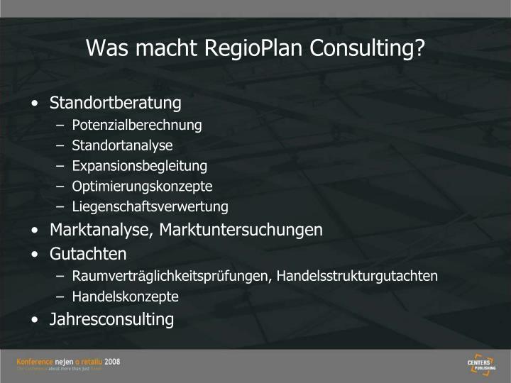 Was macht RegioPlan Consulting?