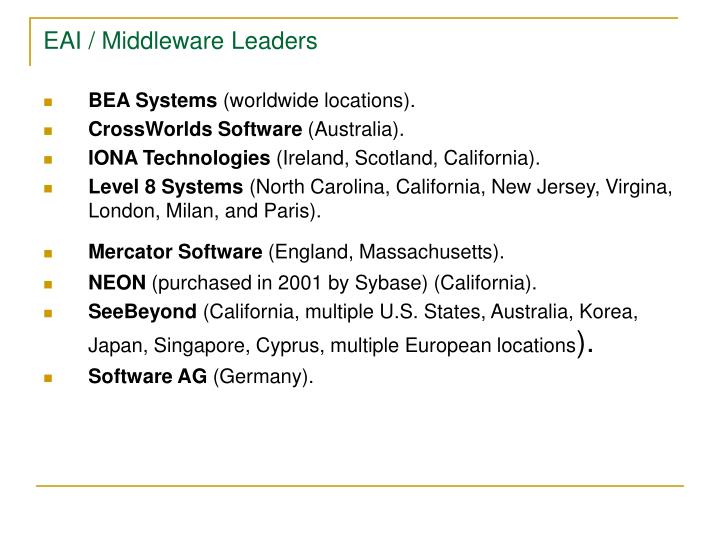EAI / Middleware Leaders