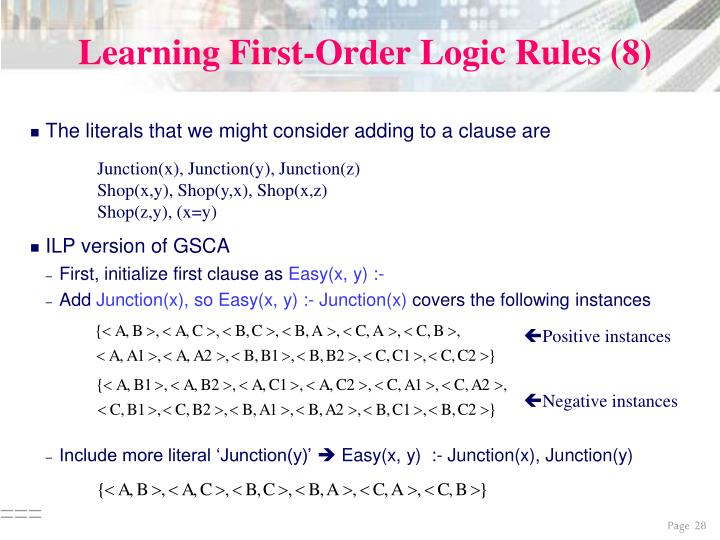 Learning First-Order Logic Rules (8)