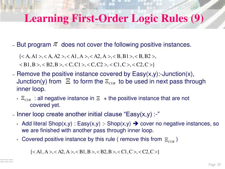 Learning First-Order Logic Rules (9)