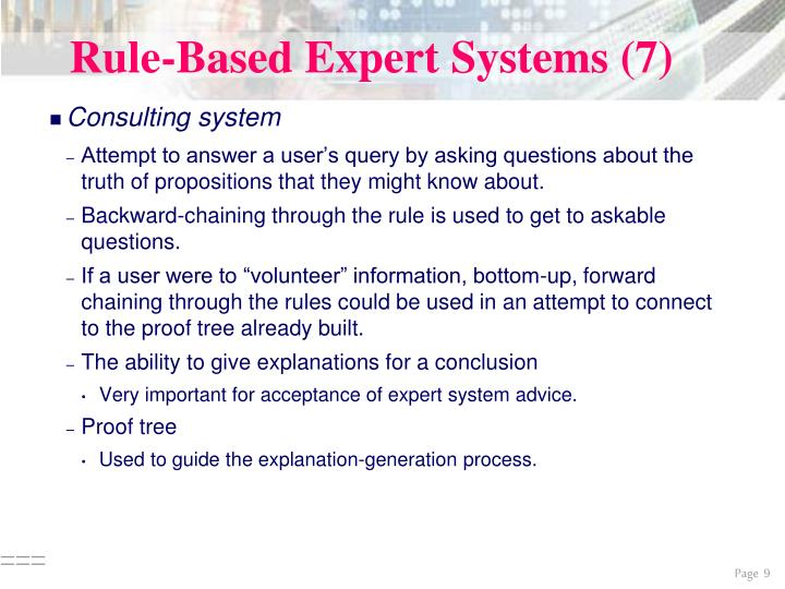 Rule-Based Expert Systems (7)