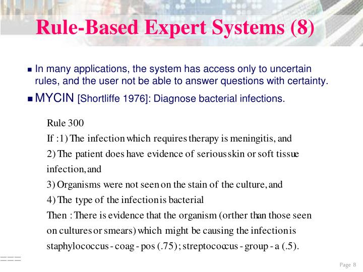 Rule-Based Expert Systems (8)