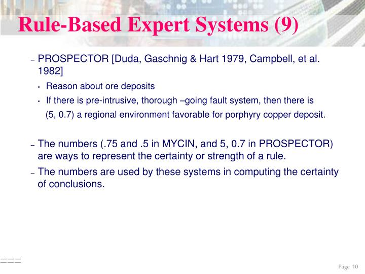 Rule-Based Expert Systems (9)
