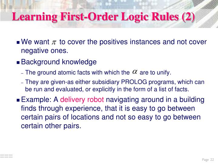 Learning First-Order Logic Rules (2)