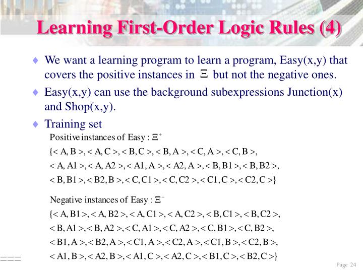 Learning First-Order Logic Rules (4)