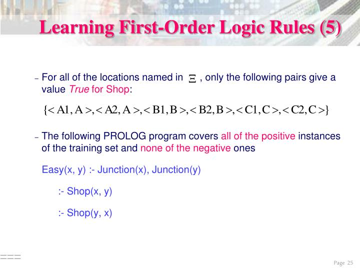 Learning First-Order Logic Rules (5)