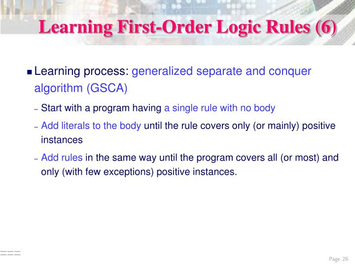 Learning First-Order Logic Rules (6)