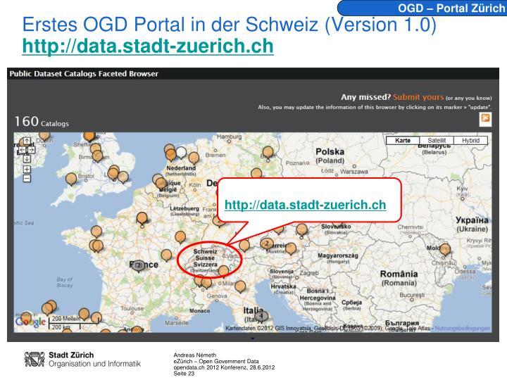 OGD – Portal Zürich