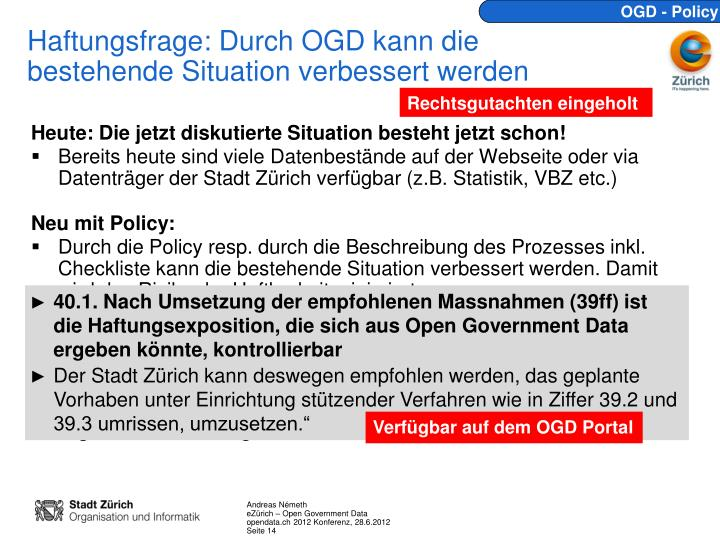 OGD - Policy