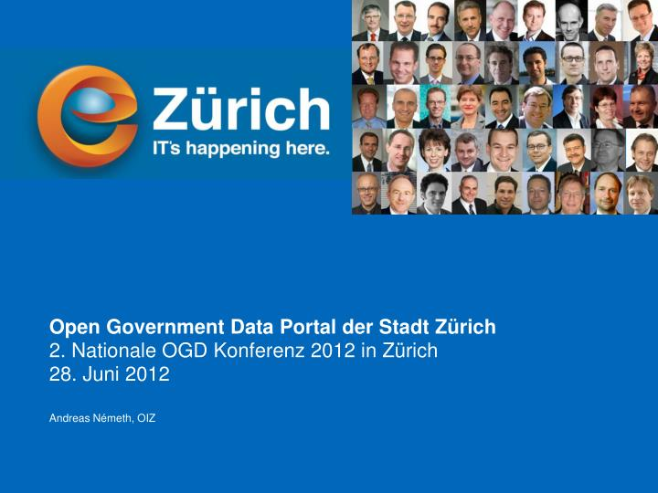 Open Government Data Portal der Stadt Zürich