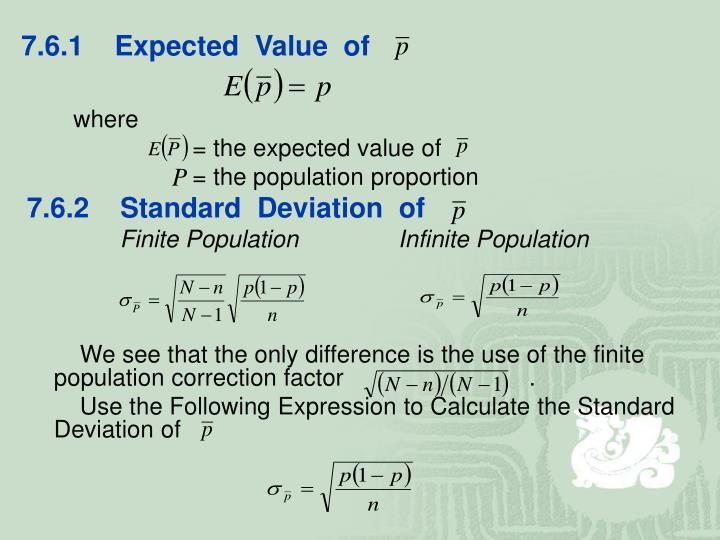 7.6.1    Expected  Value  of