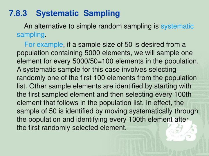 7.8.3    Systematic  Sampling