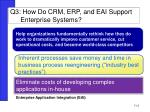 q3 how do crm erp and eai support enterprise systems