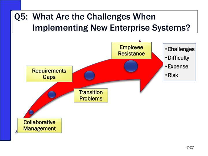 Q5:  What Are the Challenges When Implementing New Enterprise Systems?