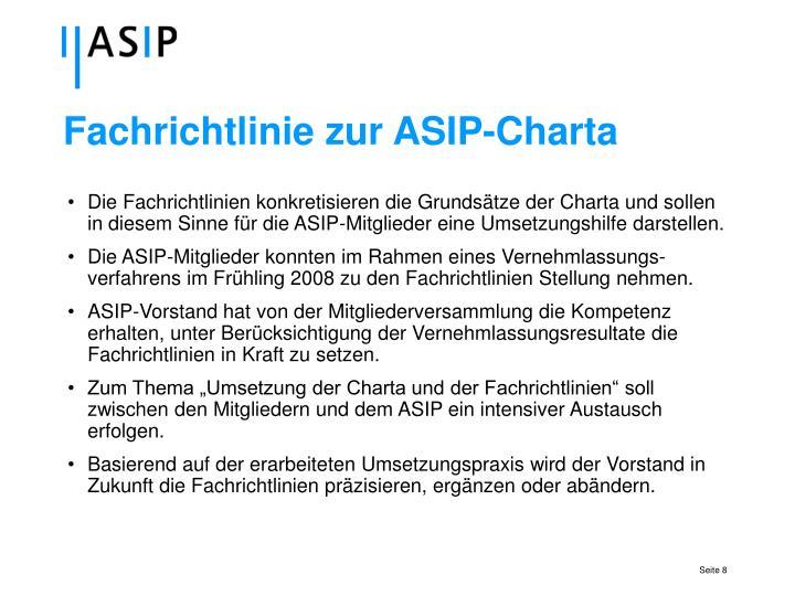 Fachrichtlinie zur ASIP-Charta