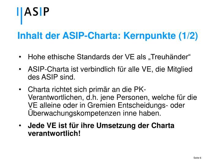 Inhalt der ASIP-Charta: Kernpunkte (1/2)
