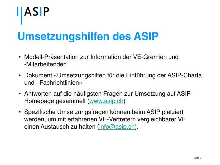 Umsetzungshilfen des ASIP