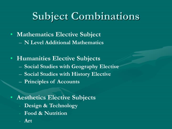 Subject Combinations