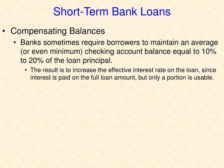 Short-Term Bank Loans