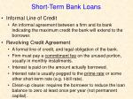 short term bank loans3