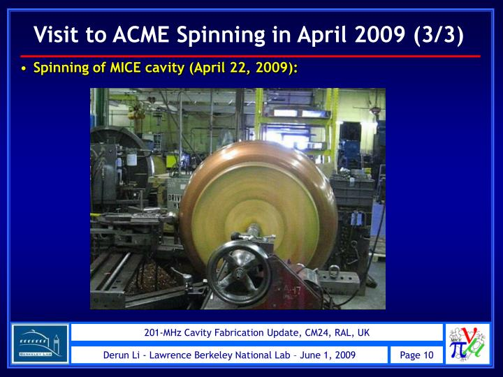 Visit to ACME Spinning in April 2009 (3/3)
