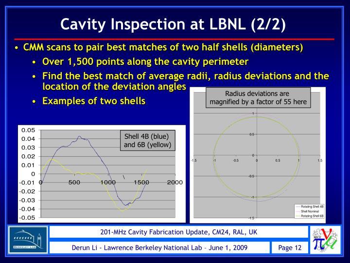 Cavity Inspection at LBNL (2/2)