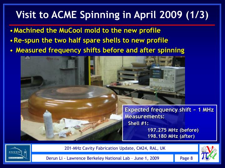 Visit to ACME Spinning in April 2009 (1/3)