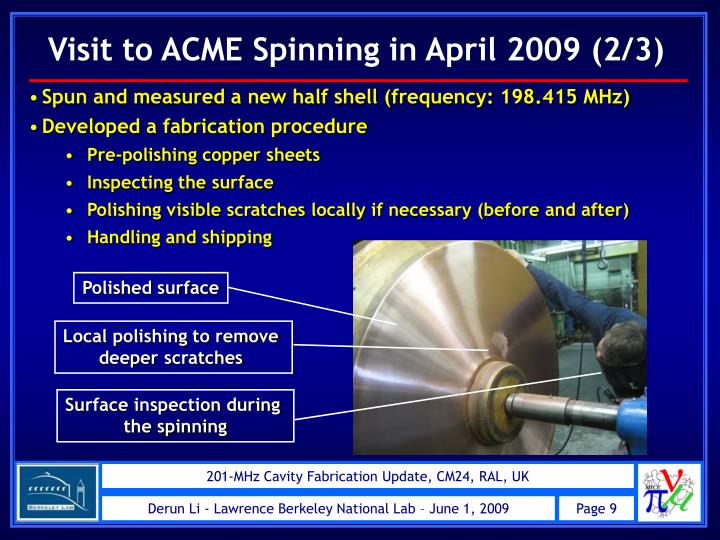 Visit to ACME Spinning in April 2009 (2/3)