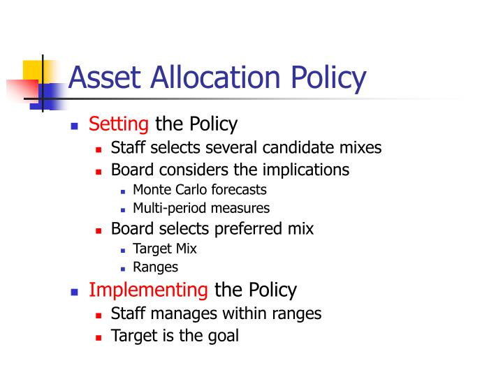 Asset Allocation Policy
