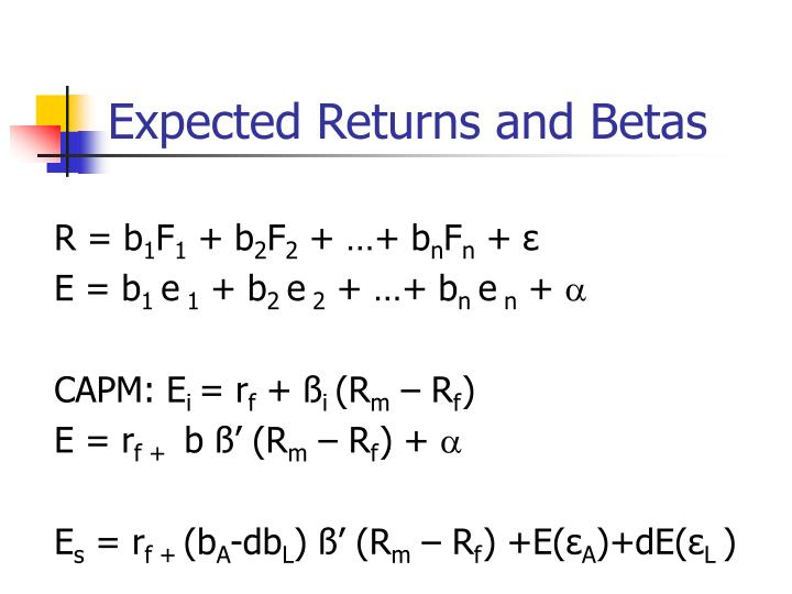 Expected Returns and Betas