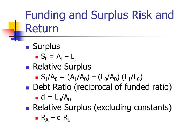 Funding and Surplus Risk and Return