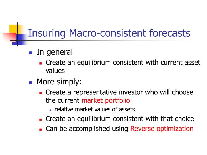 Insuring Macro-consistent forecasts