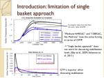 introduction limitation of single basket approach