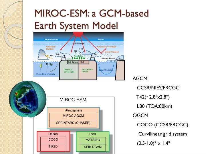 MIROC-ESM: a GCM-based